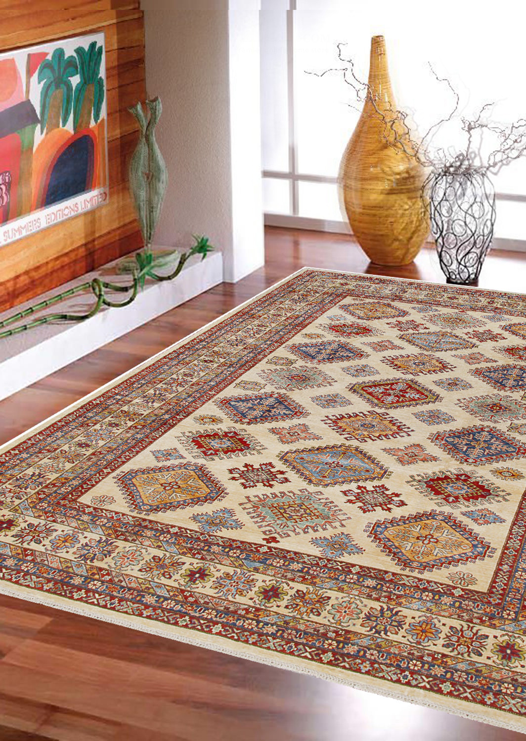 "10 Kitchen And Home Decor Items Every 20 Something Needs: Rugsville Fine Tribal Kazak Ivory Wool Rug 8'10"" X 11'9"