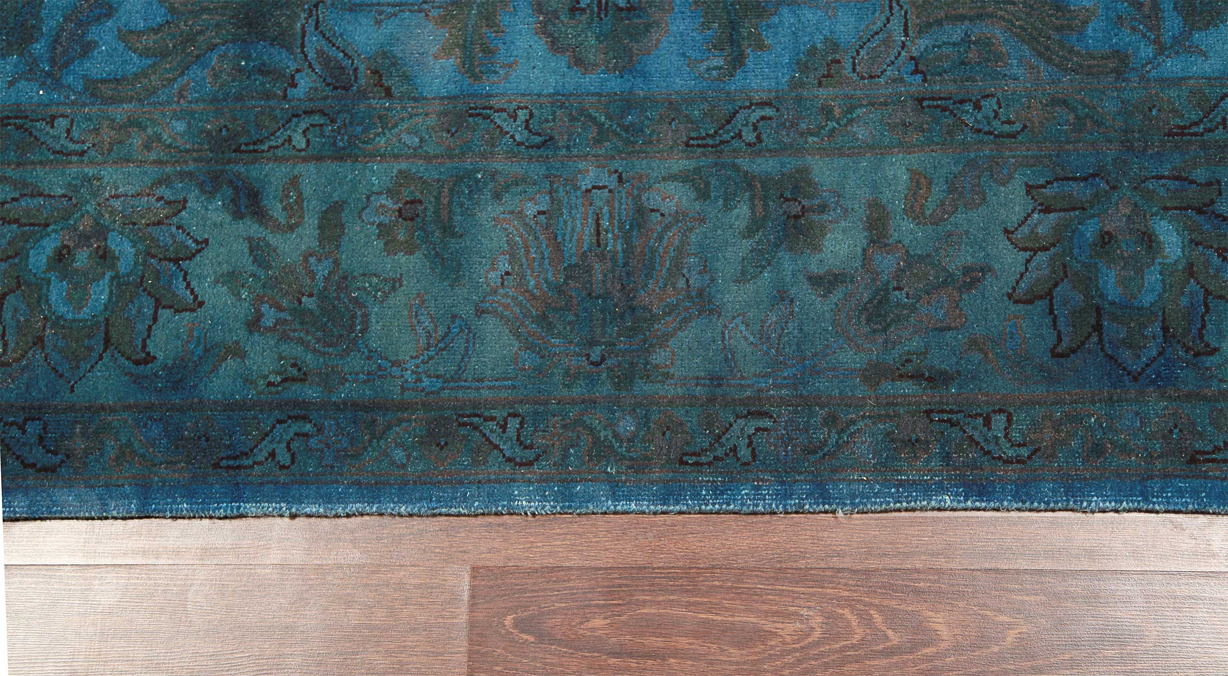 Rugsville Traditional Overdyed Light Blue Wool Rug 6u0027 X 9u0027   Rugsville  Shopping   Great Deals On Hand Knotted Rug | Rugsville.in