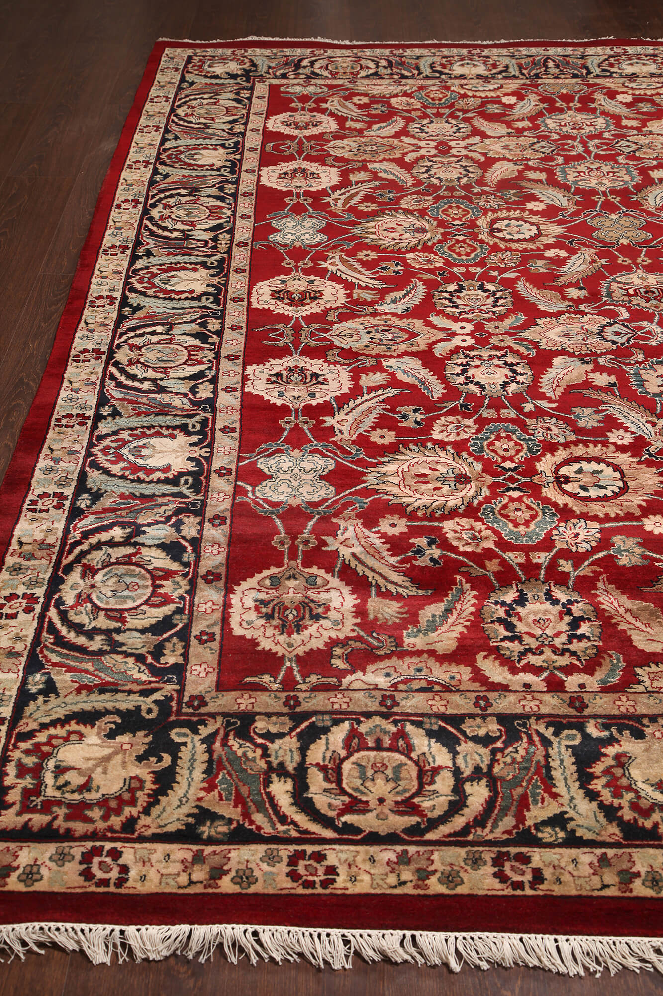 Rugsville Traditional Wool Red Amp Black Carpet 9 X 12