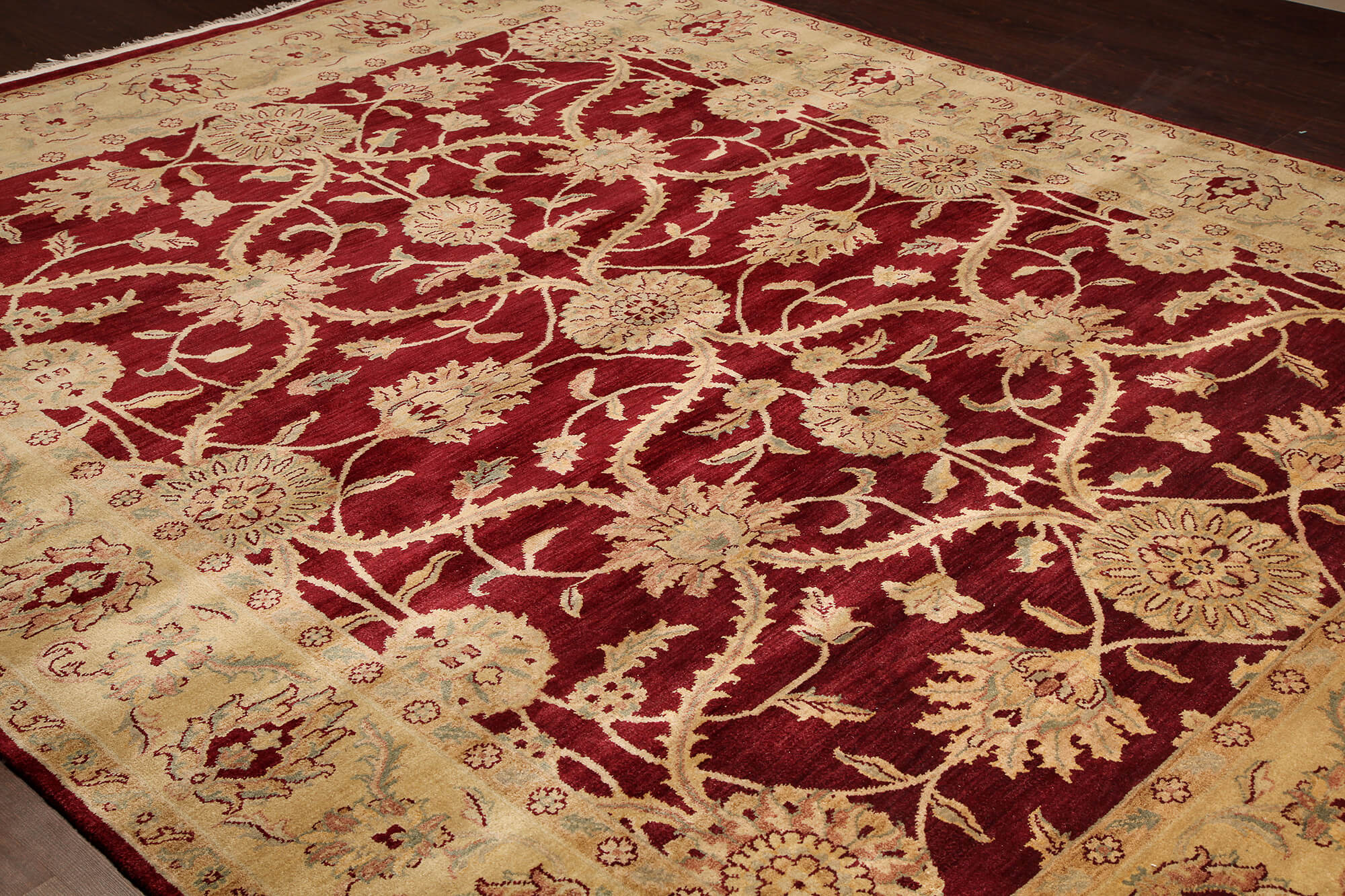 Rugsville Traditional Wool Red Amp Gold Carpet 8 X 10