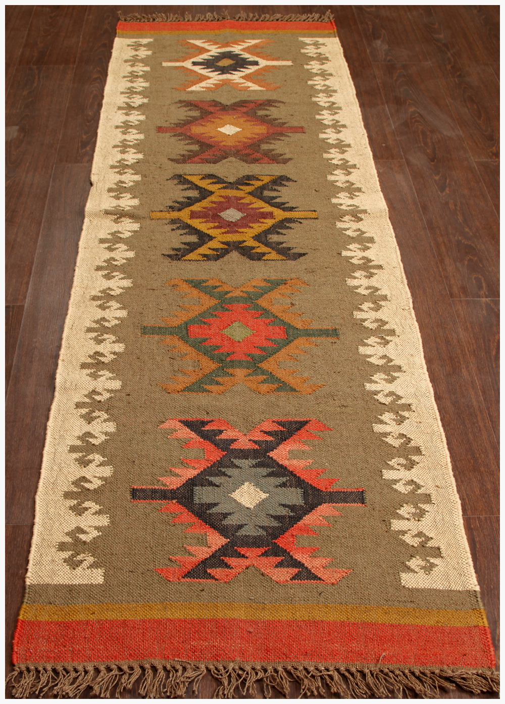 Rugsville Tribal Multi Wool Jute Runner Rug 2 6 Quot X 8