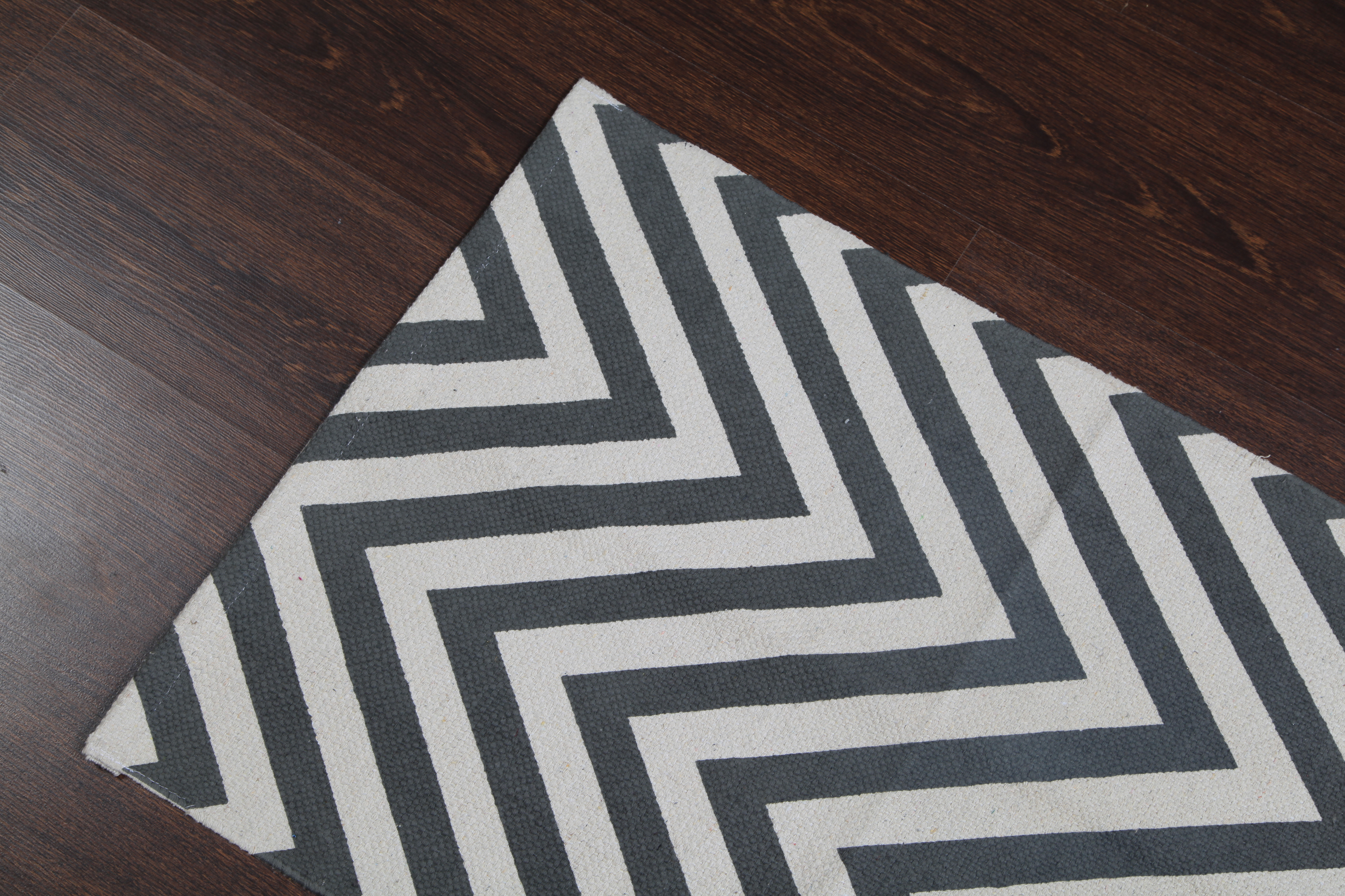 Rugsville ZigZag Cotton Blue colour Dhurrie 2u0026#39;x3u0026#39; - Rugsville Shopping - Great Deals on Flat ...